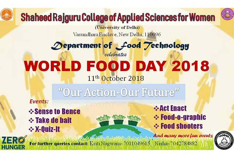 WORLD FOOD DAY - Department of Food Technology